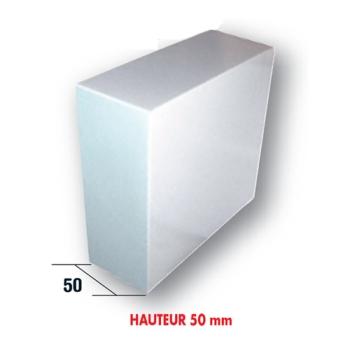 50 BOITES PATISSIERES BLANCHES HAUTEUR 5 CM