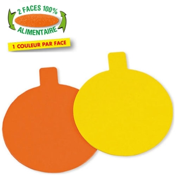 ROND LANGUETTE  ORANGE/JAUNE