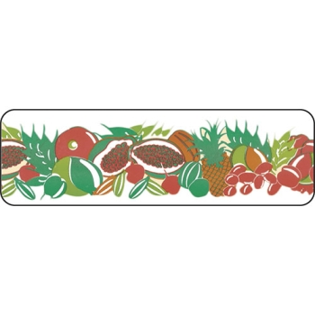 RUBAN PVC IMPRIME FRUIT EXOTIQUE