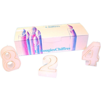 BOUGIE CHIFFRE LISERET OR