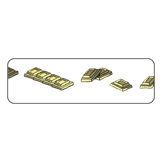RUBAN PVC IMPRIME CHOCOLAT